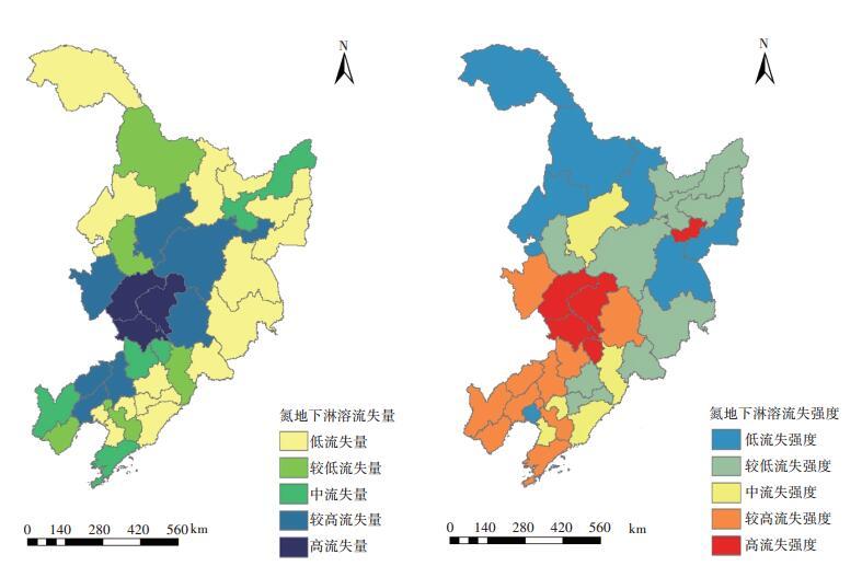 东北三省农田化肥氮地下淋溶污染等级评估